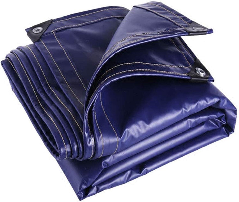 YX-Planen PVC-Starke Plane Mehrzweck-Bodenblechabdeckungen Blau - Super wasserdichtes Planenblatt für zu Hause und im Garten Schwerlast - Dicke 0,65 mm, 550 g m2