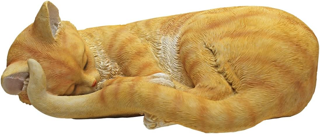 Design Don't miss the campaign Toscano Cat Nap Statue service Kitten Sleeping Multicolored