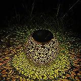 Farol Solar Exterior Jardin, MMTX LED Lámpara IP44 Impermeable Solar Jardín Luz Colgante Solar del Jardín Luces de Linterna Impermeable Portátil para Jardín Patio al Aire Libre Partido Decorativo
