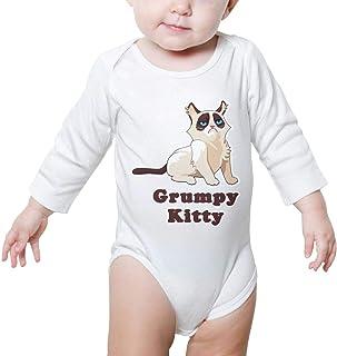 Funny Grumpy Cat Nope Newborn Unisex Baby Bodysuit Long Sleeve Romper Jumpsuits