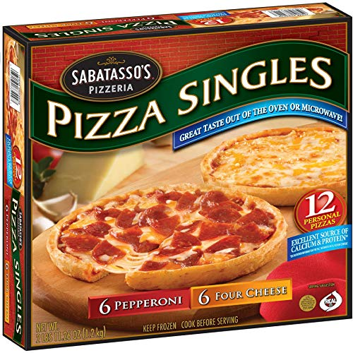 Evaxo Pepperoni/Four-Cheese Thin Crust Pizza Singles 1 pk. / 12 ct. #S