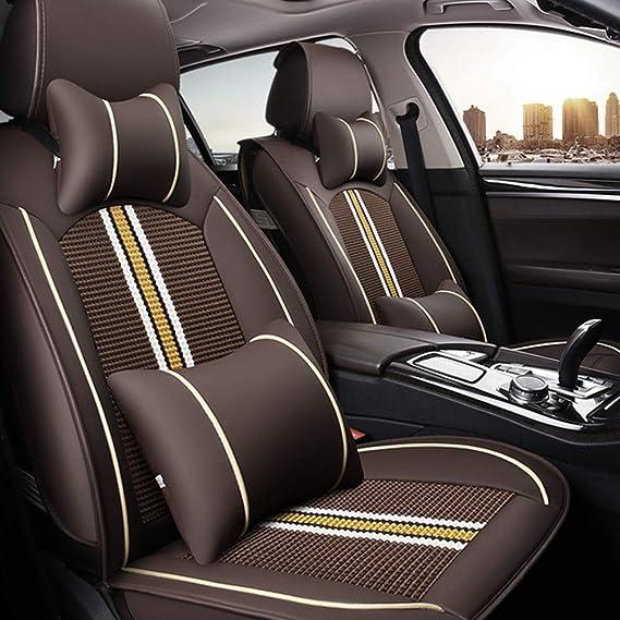 Allyard Auto Sitzbezüge Für Mer Cedes B Enz Glc Gle Gls M Amg Vordersitze Auto Sitzbezüge Pu Leder Sitzauflage 2 Stück Beige Auto