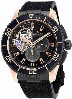 Zenith Stratos Spindrift Carbon Fiber Dial Chronograph Mens Watch 862060406121R573
