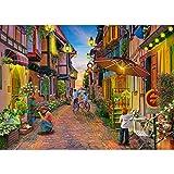 Puzzle de 1000 piezas, puzzle para adultos, impossible puzzle, colorido juego de habilidades para toda la familia, puzzle para adultos, temática de la ciudad romántica