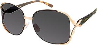 Southpole Women's 453sp-Gldbk Rectangular Sunglasses, Gold/Black, 58 mm