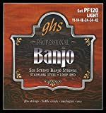 GHS PF120 Set of 6 Strings Banjo Light