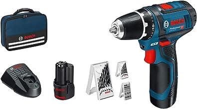 Bosch Professional 12V System GSR 12V-15 - Atornillador a batería (30 Nm, set 39 accesorios, 2 baterías x 2.0 Ah, en malet...
