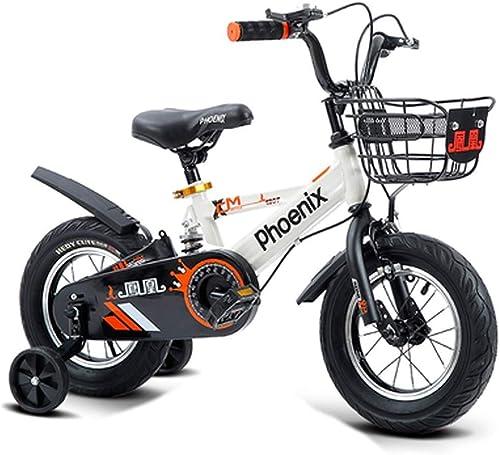 moda clasica LJFYMX Bicicleta Bicicletas para Niños Jardín Jardín Jardín de Infantes para Niños Salidas al Aire Libre Creativas de 12 Pulgadas para Niños y Bicicletas de Dos Asientos Pedal de Bicicleta ( Color   blanco )  tomamos a los clientes como nuestro dios