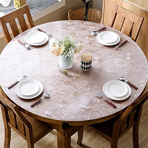 "LovePads 1.5mm Thick 40"" Round Table Protector for Coffee Table, Plastic Tablecloth Cover Circle, Non-Slip Desk Mat for Home & Office Desk, Cosmos"