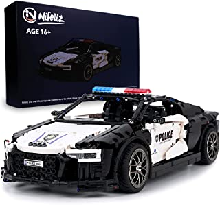 Nifeliz Super Police car R88 MOC Building Blocks and Construction Toy, Adult Collectible Model Cars Set to Build, 1:8 Scal...