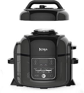 Ninja OP300 Foodi Ultimate 8 in 1 Pressure Cooker with Crisping, 1460 Watts, 6 Litre Capacity, black, Nutri Ninja
