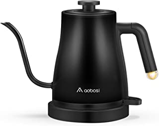 Aobosi Electric Kettle Gooseneck Kettle,3-IN-1 Pour Over Coffee Kettle with Stainless Steel Inner Lid & Bottom Boil-Dry Pr...