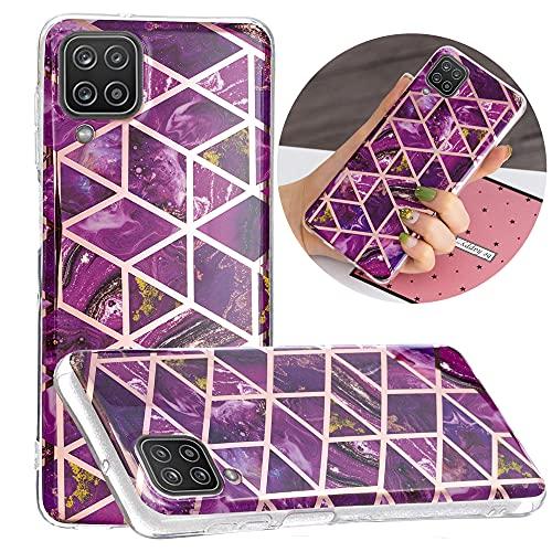 Hongjian Funda para Samsung Galaxy A12 SM-A125F, SM-A125M, SM-A125N Plating TPU Soft Case Cover 7