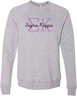 Sigma Kappa Greek Type Crewneck Sweatshirt