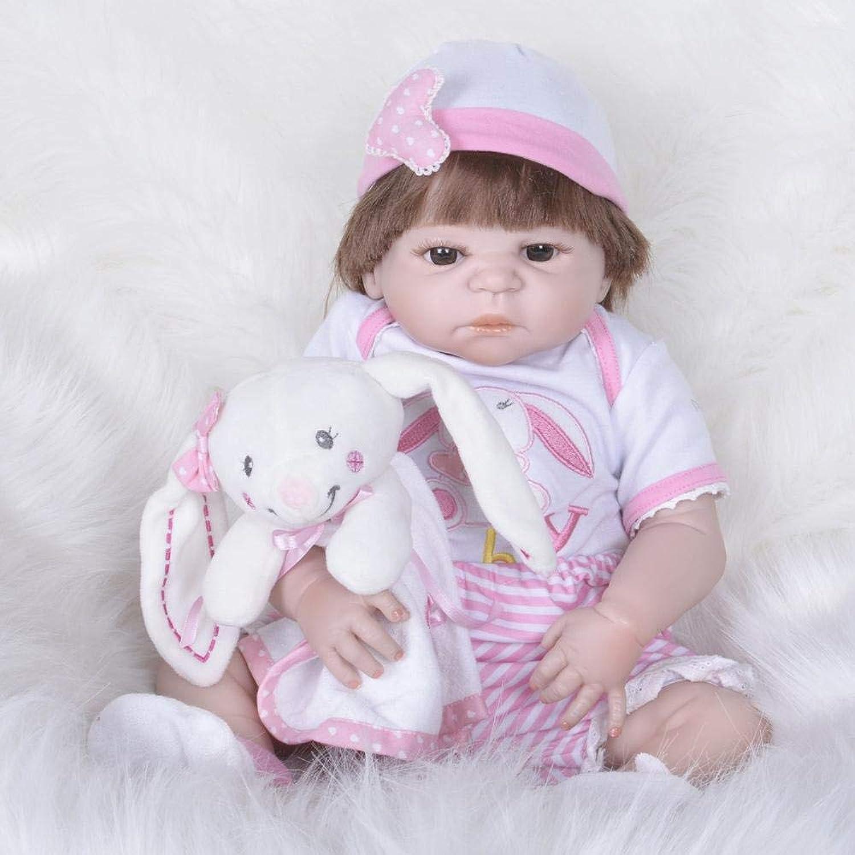 Hongge Reborn Baby Doll,Volle Silikon Vinyl Reborn Babypuppe realistische weiblichen Babys Puppen lebensecht Prinzessin Kids Toy Kinder Geburtstagsgeschenk 58cm B07HKCQPTX Lebhaft und liebenswert    Sofortige Lieferung