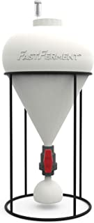 FastFerment Conical Fermenter - Home-Brew Kit - BPA Free Food grade Primary Carboy Fermenter Beer, Wine Fermentation also Hard Cider brewing kit. Stand, bottling hose and all hardware incl