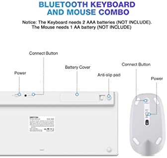 OMOTON Bluetooth Keyboard and Mouse for iPad and iPhone (iPadOS 13 / iOS 13 and Above), Compatible with New iPad 10.2...