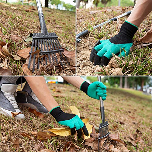 "Yangbaga Rakes for Lawns LeafRake, 30.7""-50""Adjustable Garden Rake 8.7"