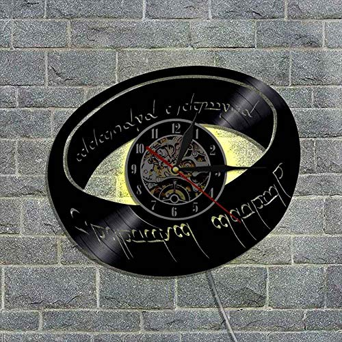 BFMBCHDJ Magic Ring Vinyl Record Reloj de Pared Decoración para el hogar Reloj Vinyl Record Reloj de Pared Wall Art Clock A3 Sin LED 12 Pulgadas