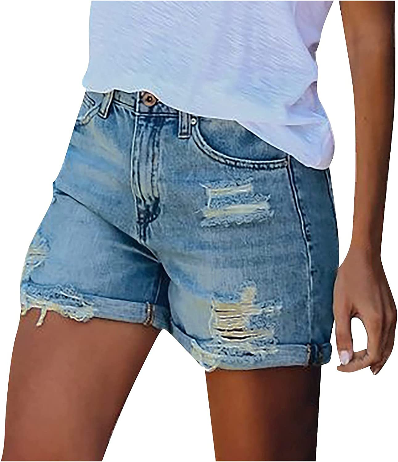 Astrid Womens Comfy Summer Shorts Elastic Waist Pockets Casual Bull-Puncher Knickers