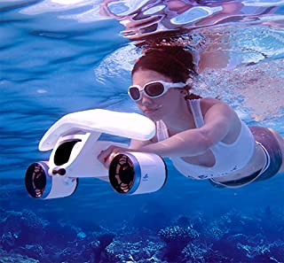 WhiteShark Mix Underwater Scooter(Arctic White), Submersible Propeller, Underwater Booster, Extreme Depth 131FT, Support U...