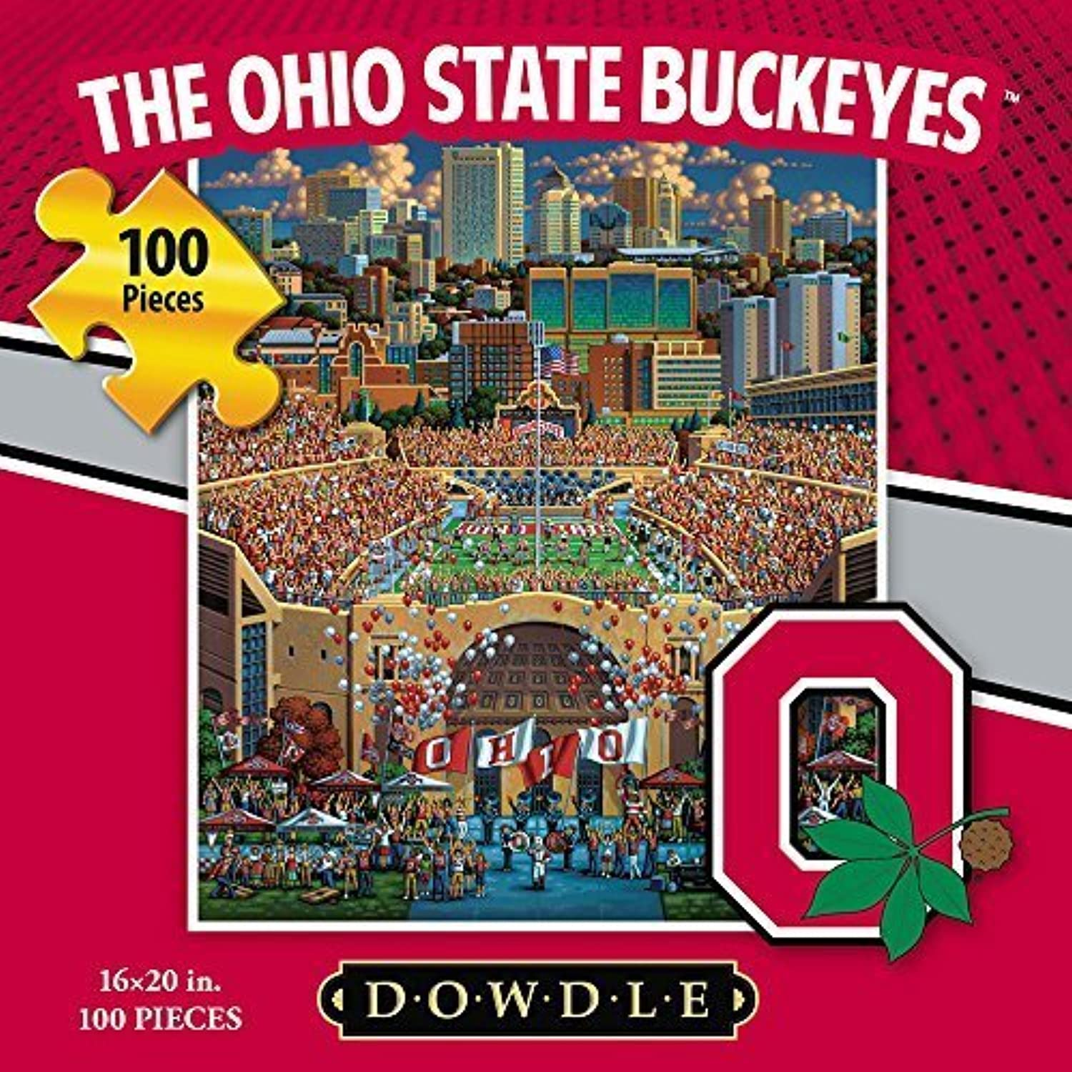 Jigsaw Puzzle  The Ohio State University BuckeyesOSU100 Pc By Dowdle Folk Art by Dowdle Folk Art