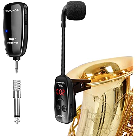 French Horn for Saxophone ammoon BM-12//V2 UHF Wireless Microphone System Professional Device Trumpet and Trombone 630-690 MHz 16 Channels Receiver and Transmitter