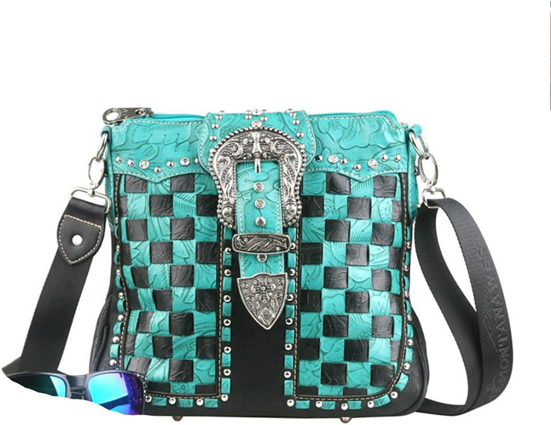 Montana West Concealed Handgun Collection Handbag-Turquoise