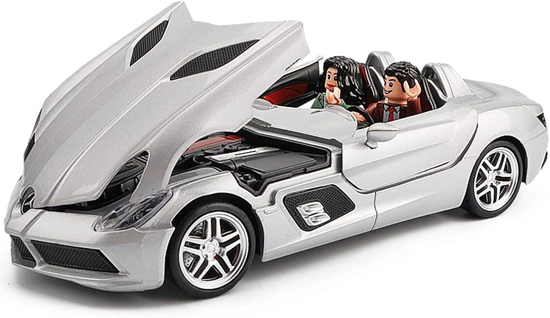 Mejor precio PENGJIE-Model Mercedes-Benz SLR McLaren Sports Coche Alloy Coche Modelo 1 1 1 24 Racing Coche Model Colección Ornamentos (Color   Mercedes-Benz SLR McLaren [Boxed])  venta al por mayor barato