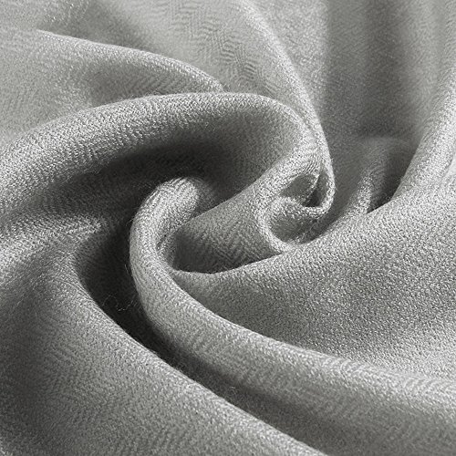 MEIDUO Sjaal Sjaal Dames Lente En Herfst Winter Oversized Veel Kleuren 230 * 90cm Grijs