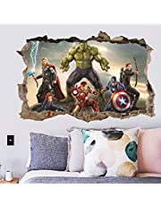 Gadgets Wrap Cartoon Movie Avengers Wall Sticker for Kids Rooms Bedroom Wall Decals Living Room Decoration