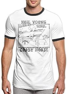 Men Neil Young Crazy Horse Zuma Classic Design Short Sleeve T-Shirt