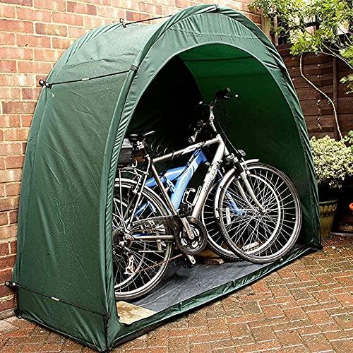 OUUUKL Carpa para Bicicletas al Aire Libre, Portátil Impermeable para Guardar Bicicletas 190T Poliéster PU 1000 Espesar Tela Impermeable Plegable Cobertizo para Guardar Bicicletas Ahorro de Espacio