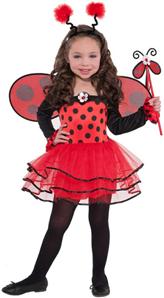 Bambino coccinella ladybug Bambino Fancy Dress Up Party Costume World Book Day NUOVO