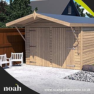 Noah Garden Rooms Oxford - Garaje, caseta, taller para el jardín de madera muy resistente, de 6 x 3 metros.