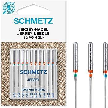 SCHMETZ - Juego de agujas para máquina de coser (10 unidades, 130 ...