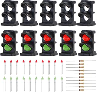 Evemodel JTD14 10 Sets Target Face with LEDs for Railway Dwarf Signal N Z Scale 2 Aspects