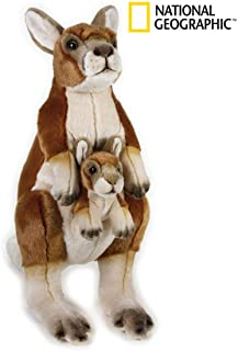 National Geographic Kangaroo with Baby Plush Set