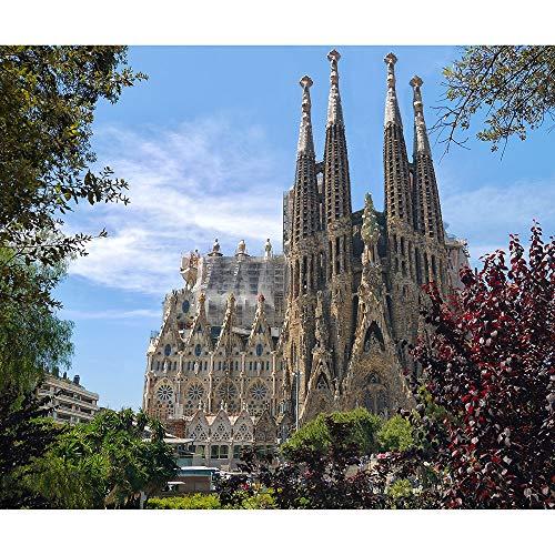 Puzzle Jigsaw Sagrada Familia 500/1000/2000/3000/4000/5000 Piezas del Rompecabezas De Color Desafío Rompecabezas For Adultos Y Niños De Decorar Regalos 1019 (Size : 2000 Pieces)