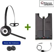 Polycom Compatible Jabra PRO 920 Wireless Headset Bundle with EHS Cord |SoundPoint IP Phones: 335, 430, 450, 550, 560, 650, 670, VVX101, VVX201, VVX300, VVX310, VVX400, VVX410, VVX500, VVX600, VVX1500