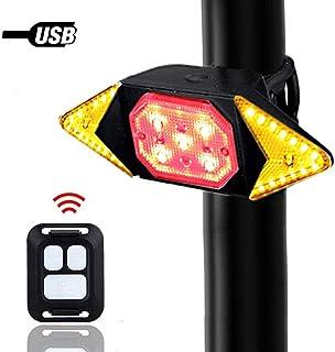 HEITIGN Fahrradrücklicht, Kabellose Fernbedienung Fahrradrücklicht Hinten, USB Ladegerät Blinker Sicherheitswarnleuchte, wasserdichte Ultrahelle Fahrradblinker für Mountainbike Licht