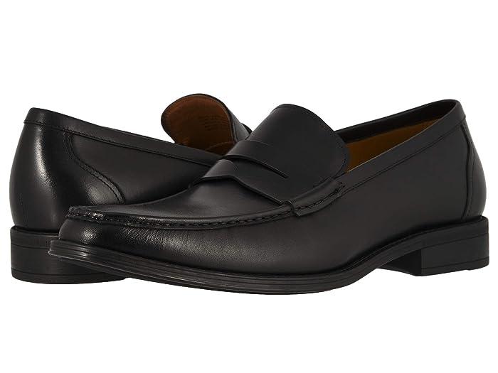 Florsheim  Amelio Penny Loafer (Black Smooth) Mens Shoes