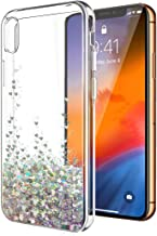iPhone XR Case,iPhone XR Glitter Case for Women Girls,SunStory Moving Shiny Quicksand Glitter and Double Protection with PC Layer and TPU Bumper Case for Apple iPhone XR(6.1