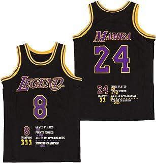 Hall of Fame Sports Memorabilia NWT New Bryant #8 Los Angeles Black Custom Screen Printed Basketball T-Shirt Jersey No Brands//Logos Mens