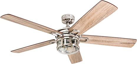 Honeywell Ceiling Fans 50610-01 Bonterra Ceiling Fan with Remote Control, Rustic LED Edison Light Fixture, 52