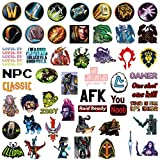 World of Warcraft Popular Game Stickers Laptop Stickers Waterproof Skateboard Snowboard Car Bicycle Luggage Decal 50pcs Pack (World of Warcraft)