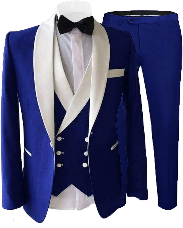 Mens Suit Set Big and Tall Prom Suit for Themed Party Events Royal Blue Tux Blazers for Men Traje de Hombre para boda