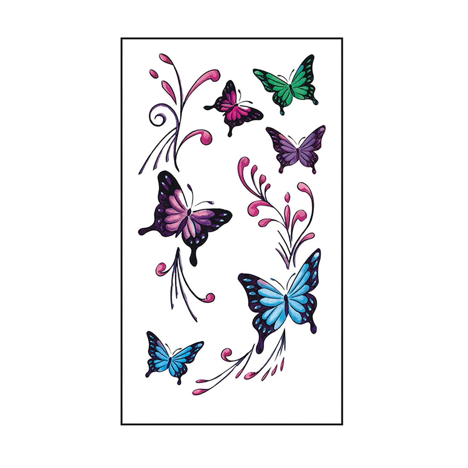3D Tattoo Stickers - In stock Art Realistic Tattoos Temporary Free shipping anywhere in the nation Effecte