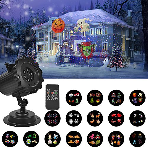 UNIFUN Holiday projection lights with remote contol and timer