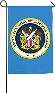 DAHWY Naval Security Group Command Vinyl Transfer 12 X 18 Inch Outdoor Flag Symbolizing and Guarding The Family
